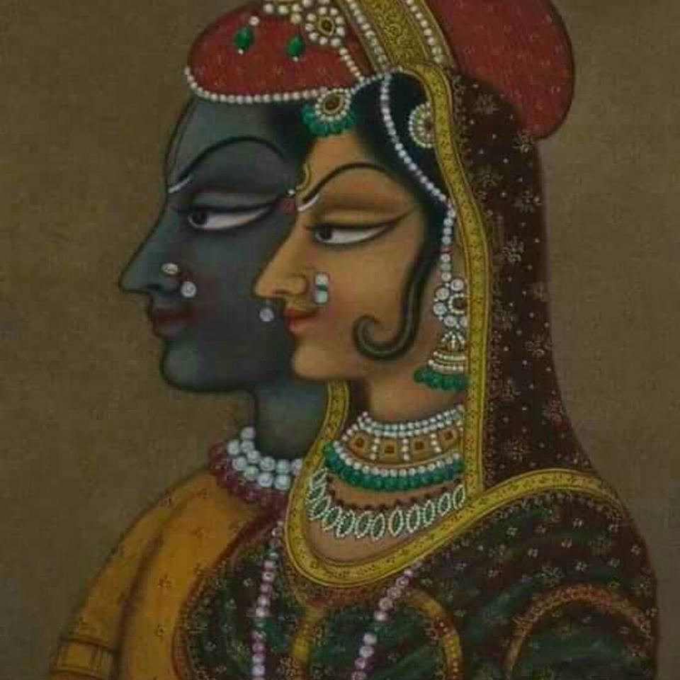 Radha-krsna in Vallabha style